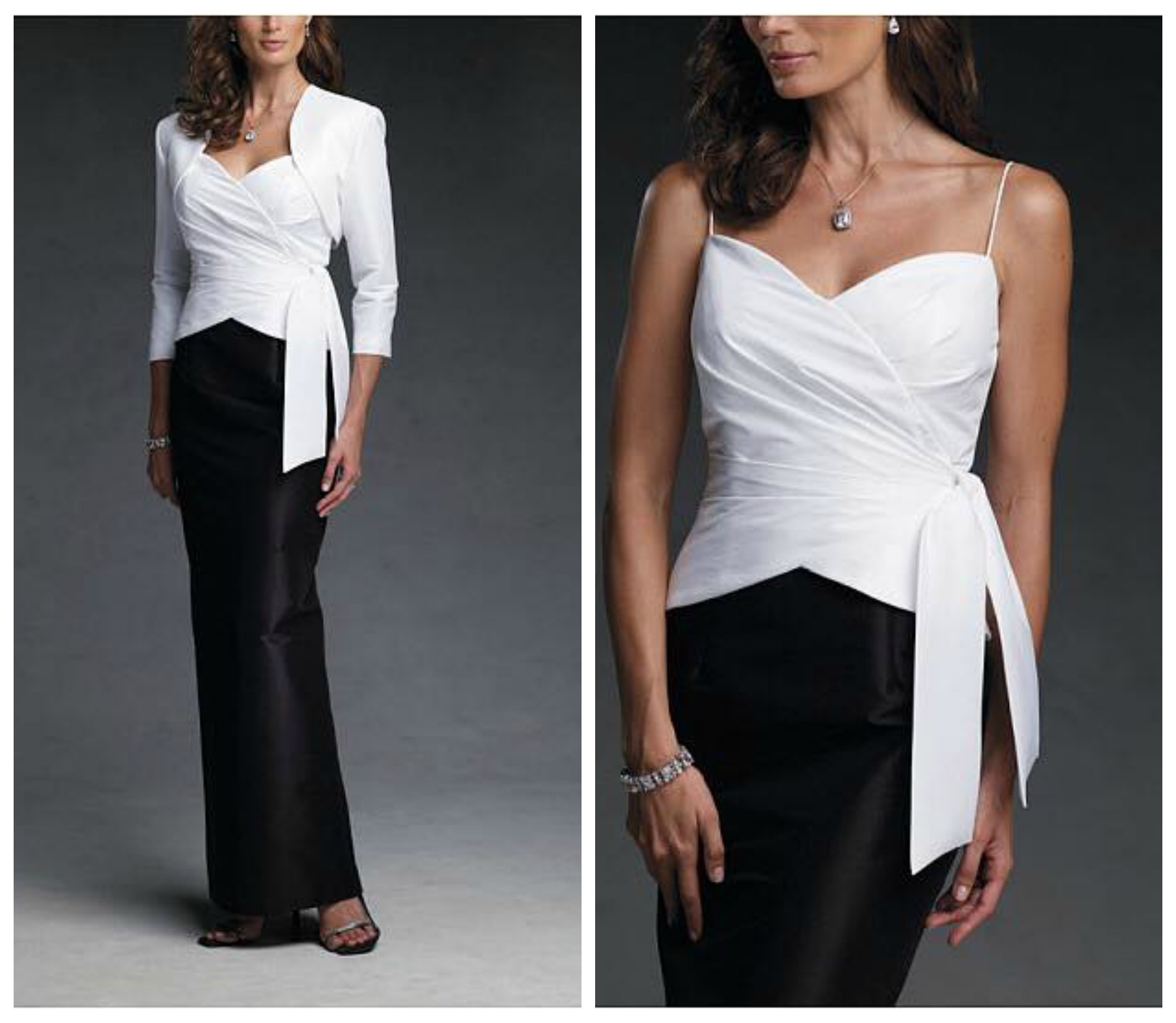 7142baccdfbf ... abito in black and white per una cerimonia serale.  MADREDELLASPOSA-DRESSES2