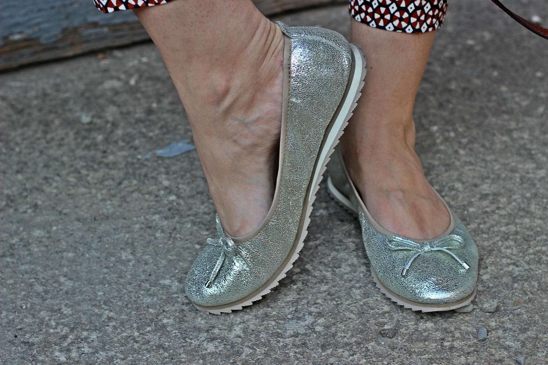 PRETTY NANA SHOES ballerine total glitter