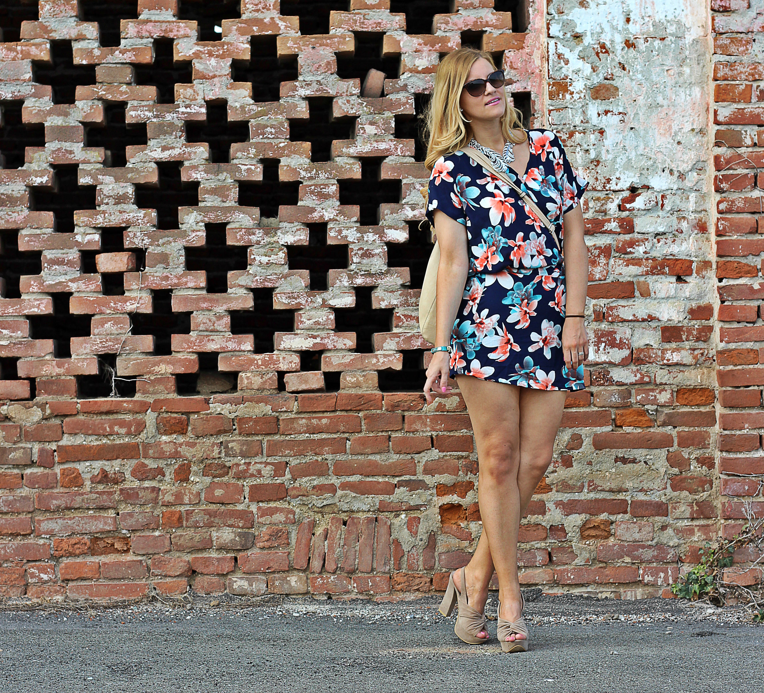 blond fashion blogger italia tuta a fiori look estate 2015