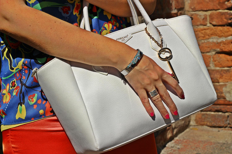 borsa pomikaki bianca gioielli luca barra