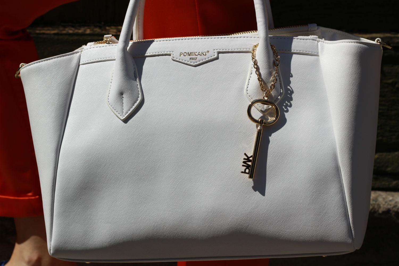 borsa pomikaki bianca modello christie