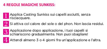 regole per utilizzare sunkiss