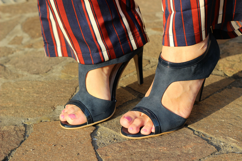 sandali calzature vigevano blue in suade senza plateau scarpe italiane