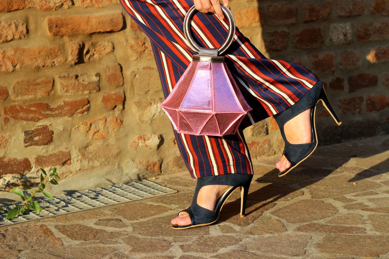 sandali calzature vigevano pantaloni palazzo borsa diamante homanz