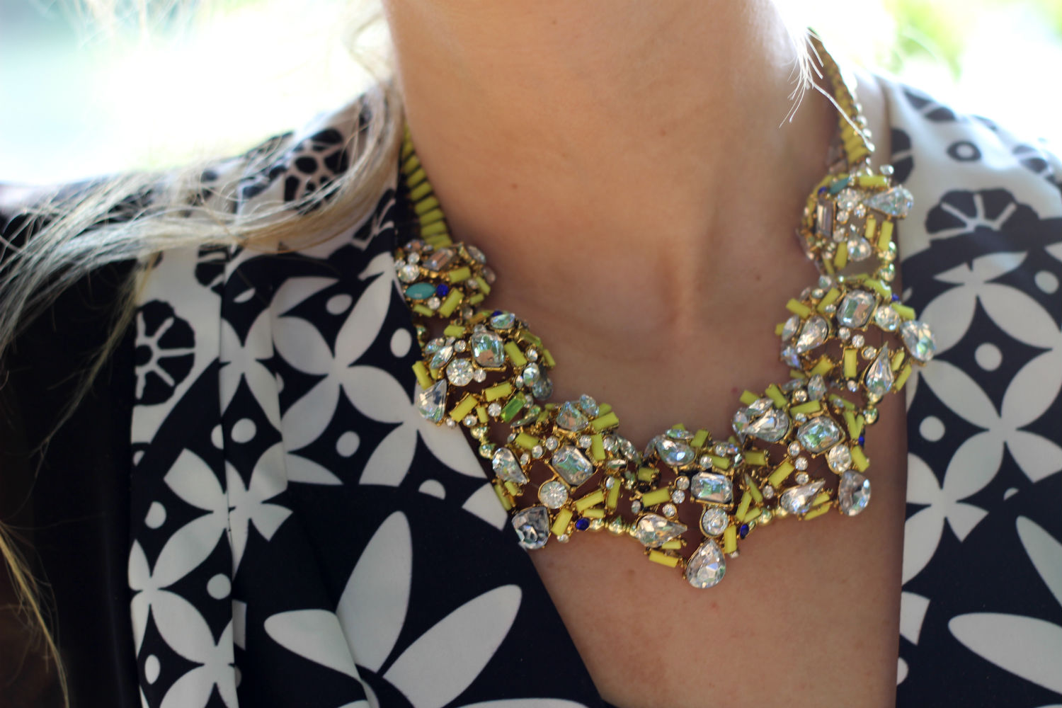 STATEMENTE NECKLACE COLLANA ESTATE 2015 ZARA GIALLA