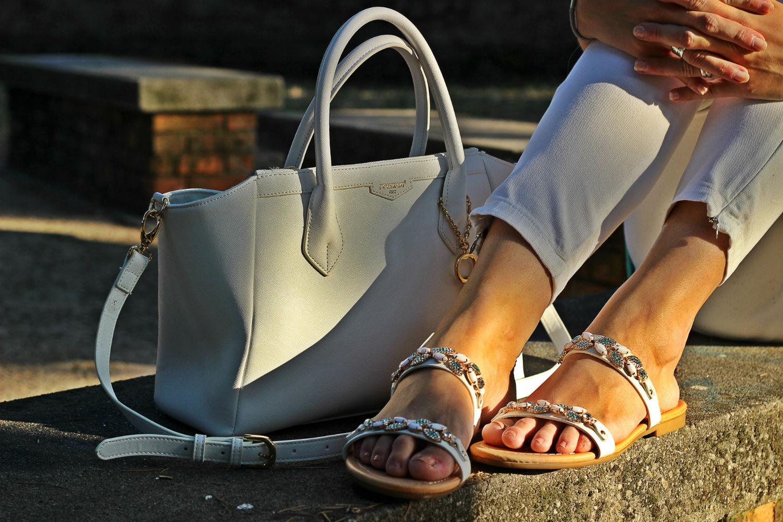 pomikaki deichmann sandali bianchi gioiello