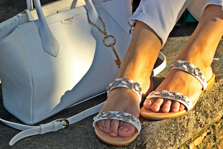 sandali gioiello deichmann borsa pomikaki - white tresh estivo