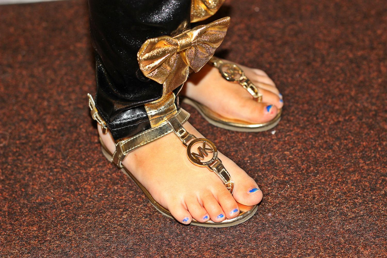 sandaletti bimba oro michael kors