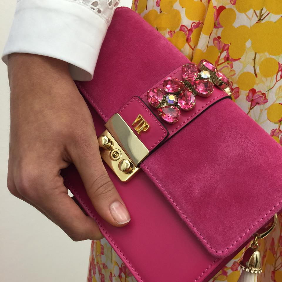 CLUTCH CON PIETRE VDP NEW COLLECTION SS2016