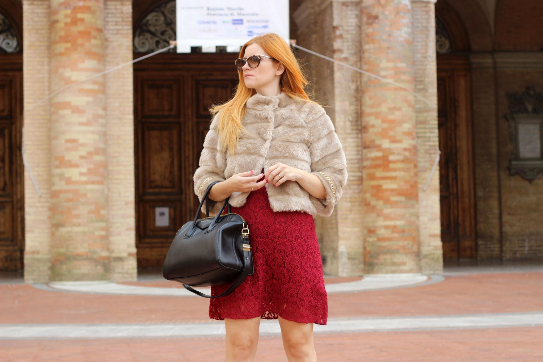 abito burgundy indeependent ecopelliccia tuwe abbigliamento donna autunno 2015