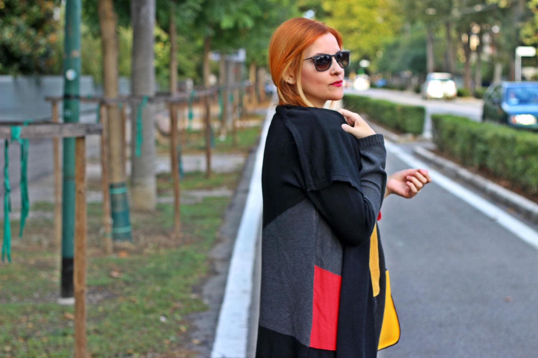 cardigan cozy patchwork hse24 elisabetta bertolini fashion blogger italia