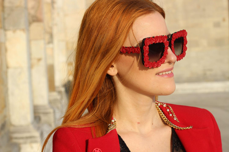 elisabetta bertolini - occhiali da sole con rose in rilievo dolcegabbana giarre.com