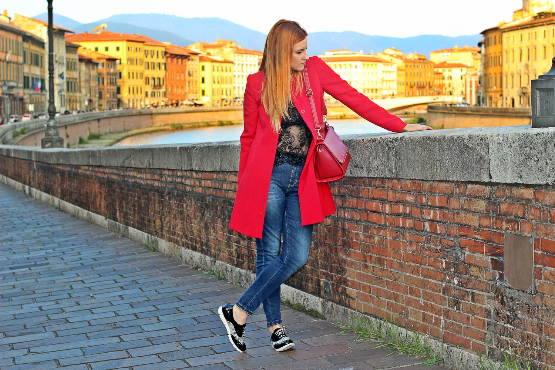 elisabetta bertolini pisa cappottino rosso fw di POIS