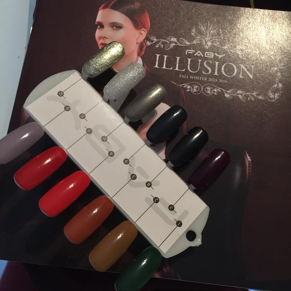 12 colorazioni faby nails new collection illusion