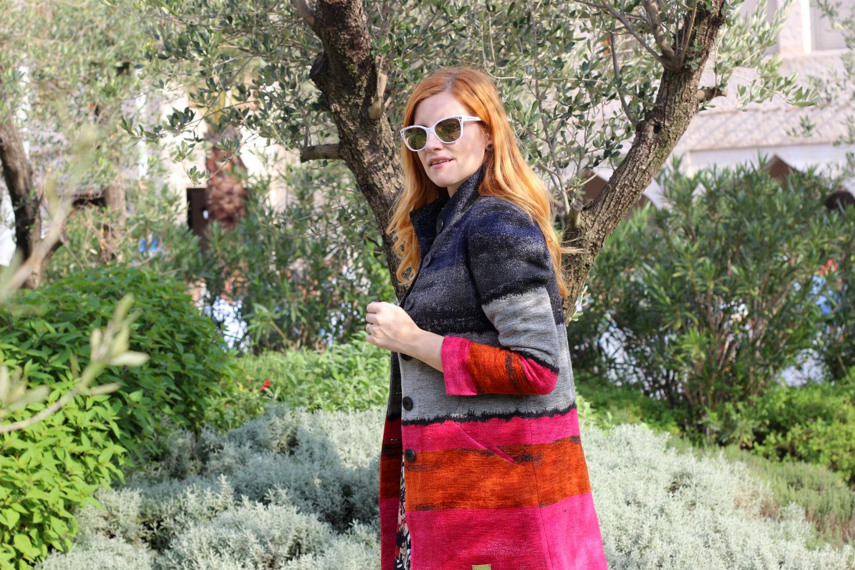 Elisabetta Bertolini - cappotto Desigual ad expo 2015 - milano - fashion blogger incinta