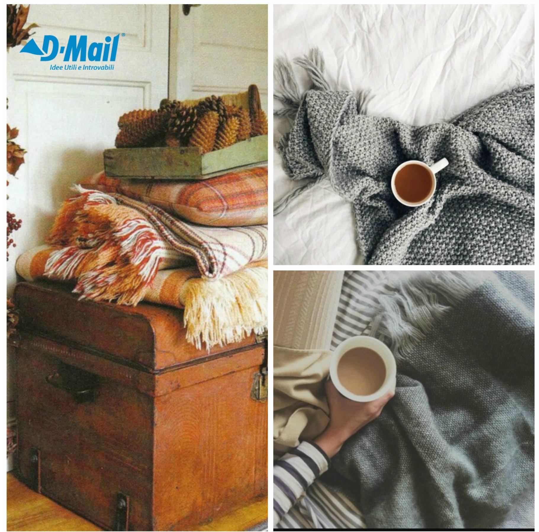 coperte e caffé shopping casa d'autunno con dmail