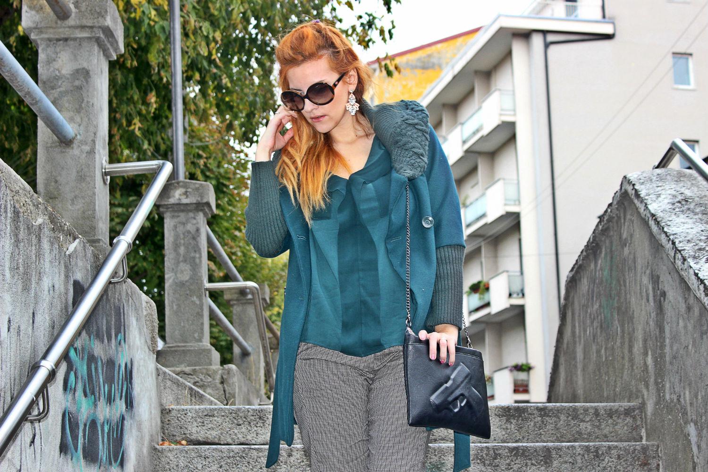 elisabetta bertolini fashion blog - microstampe - blusa verde- bighet fashion