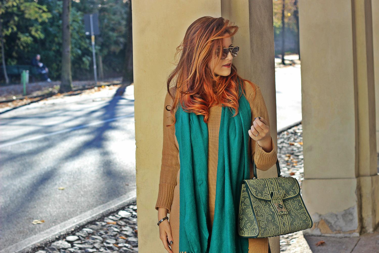 elisabetta bertolini fashion blogger - borsa le plas - colori autunno outfit