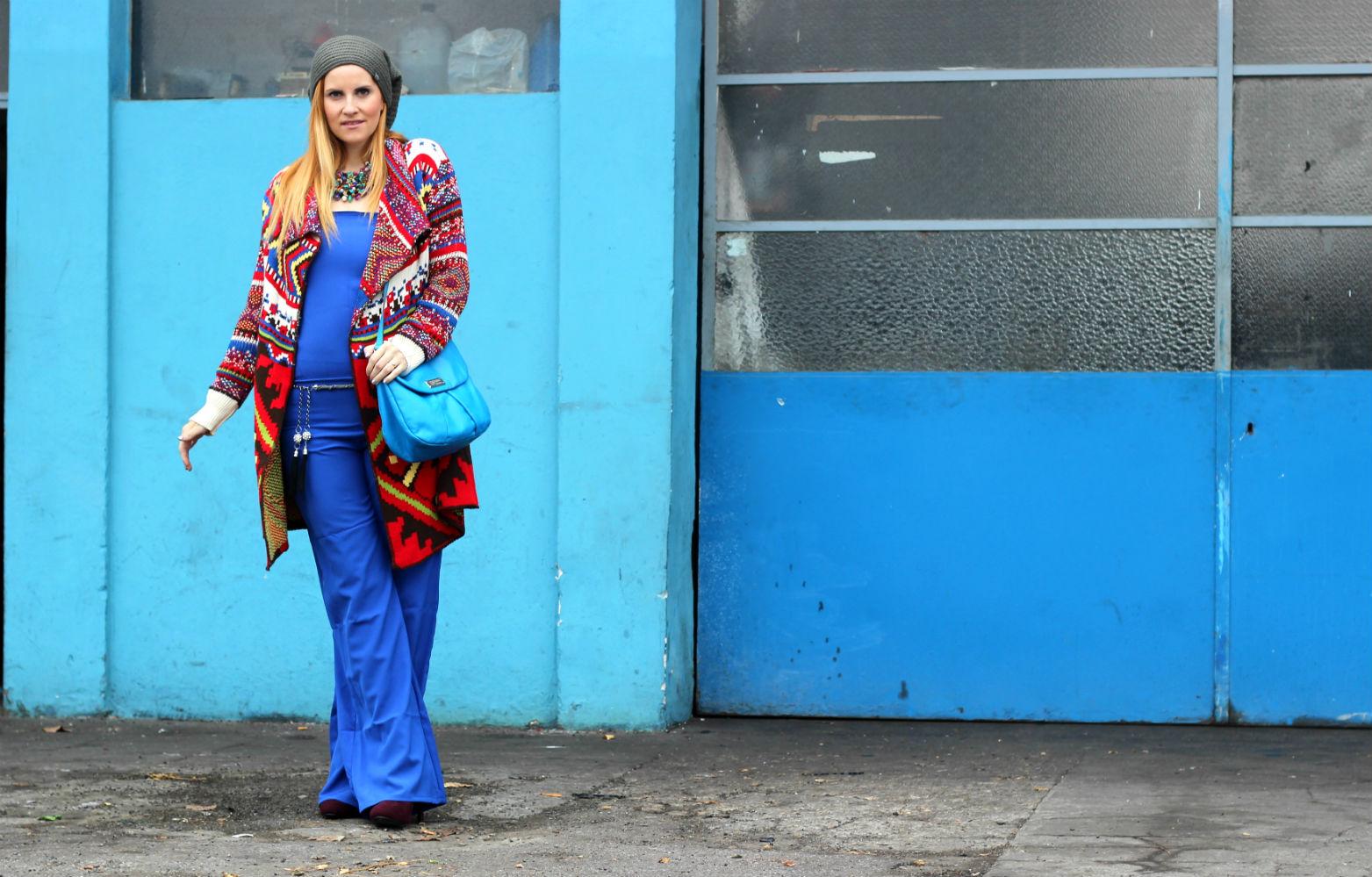 elisabetta bertolini - fashion blogger - tuta pantaloni palazzo fruscio new collection moda etnica