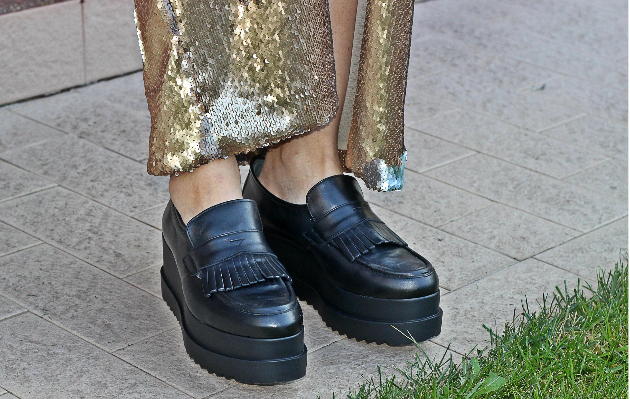 elisabetta bertolini - mocassino zeppa e frange nila e nila made in italy shoes - scarpe italiane