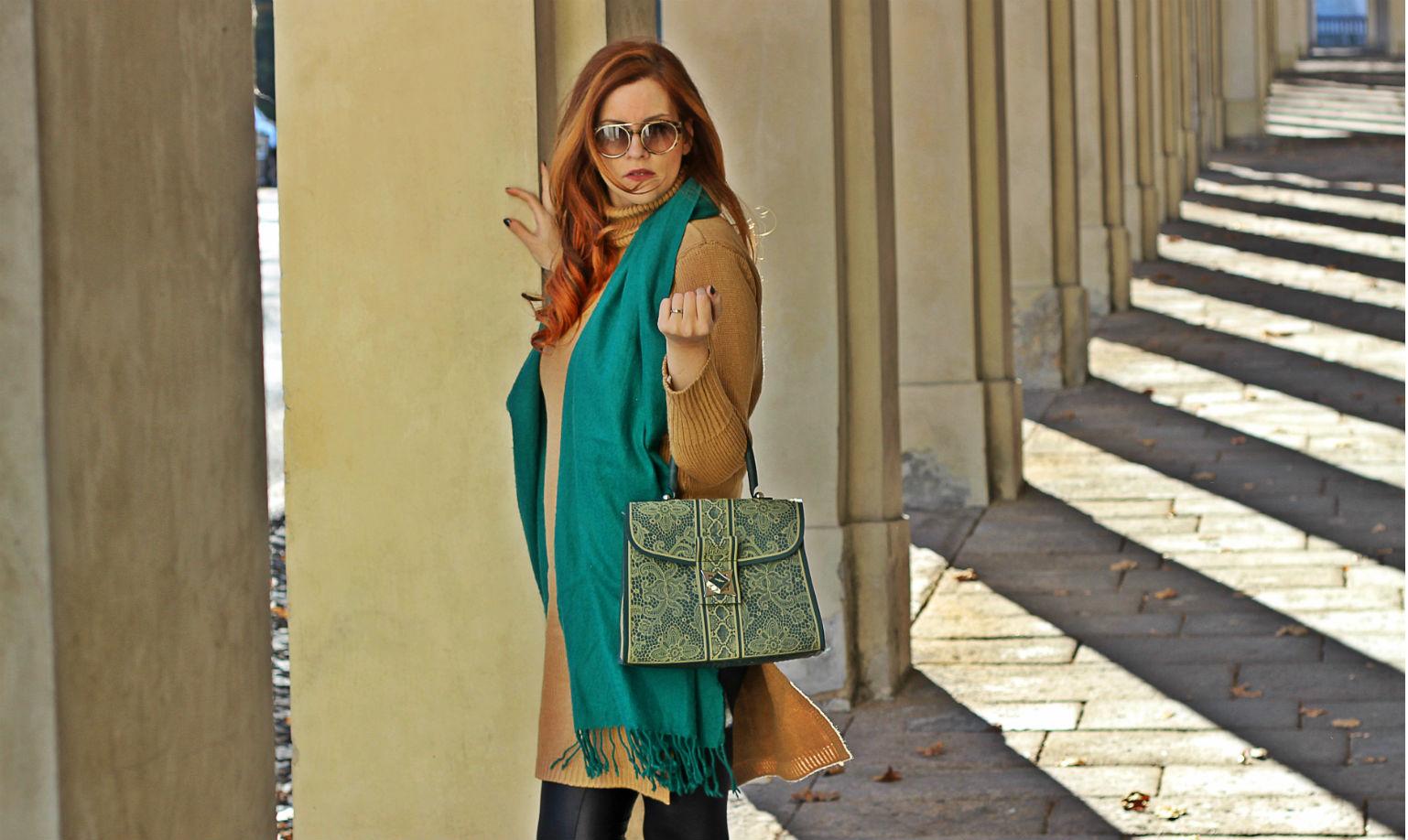 elisabettabertolini - fashion blogger italia - maxi sciarpa verde occhiali da sole tom ford giarre