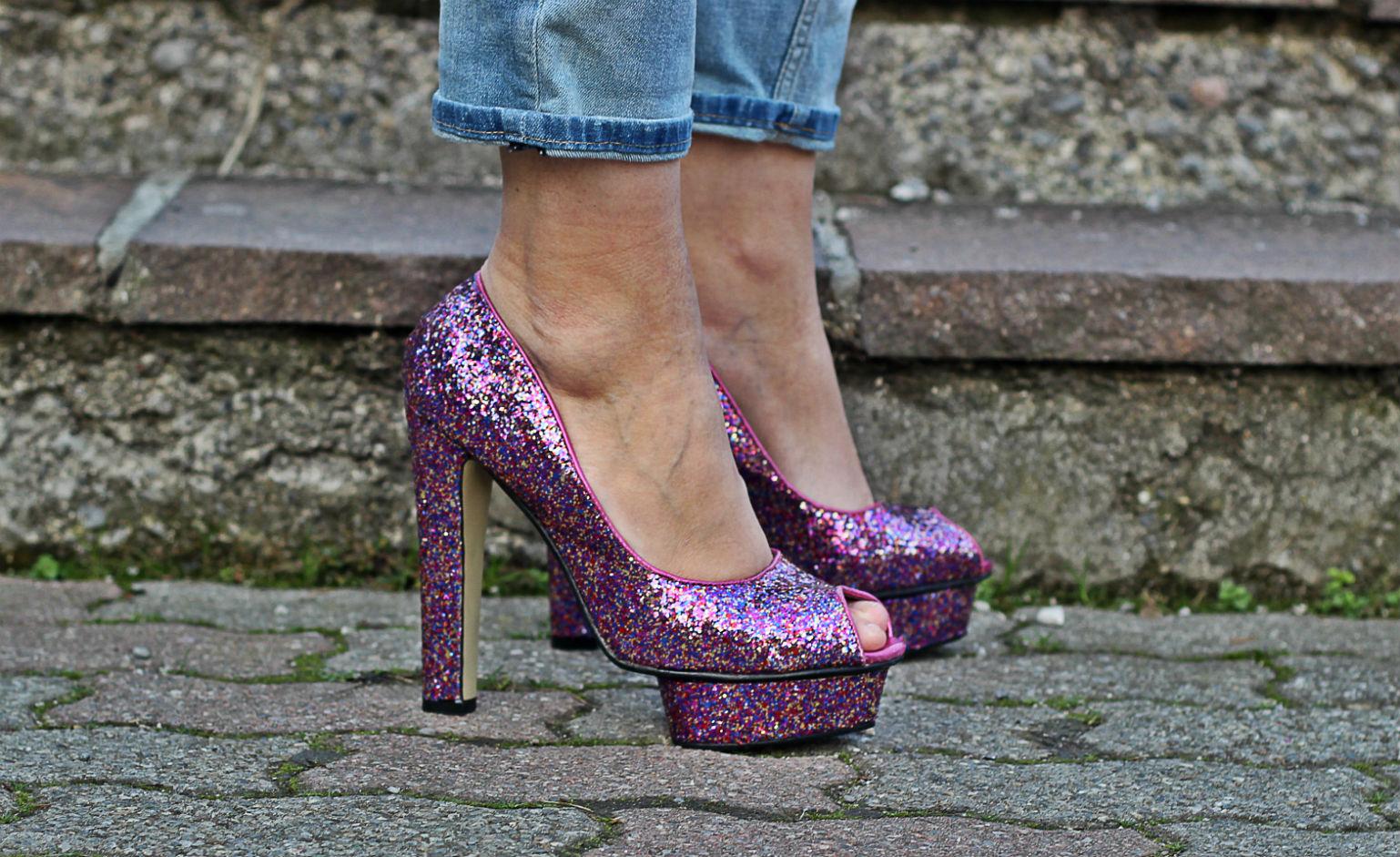 Scarpe rosa glitter - scarpe da barbie