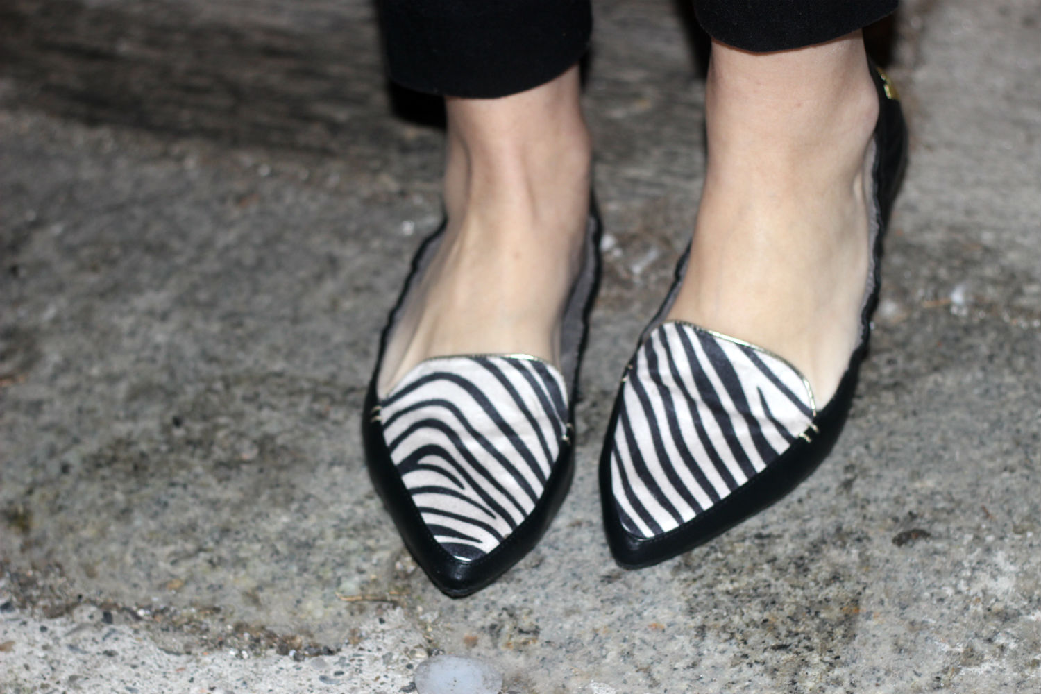 butterfly twists- ballerine pieghevoli - zebra ballerina a punta - fashion blog