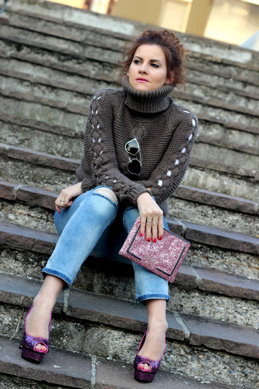 elisabetta bertolini fashion blogger italiane outfit winter boyfriend and glitter