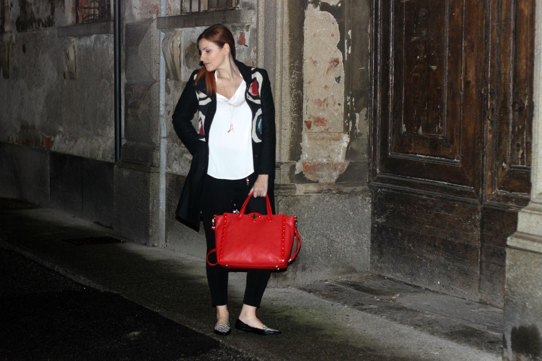 elisabetta bertolini - outfit autunno - fashion blogger con le ballerine zebrate pieghevoli BT
