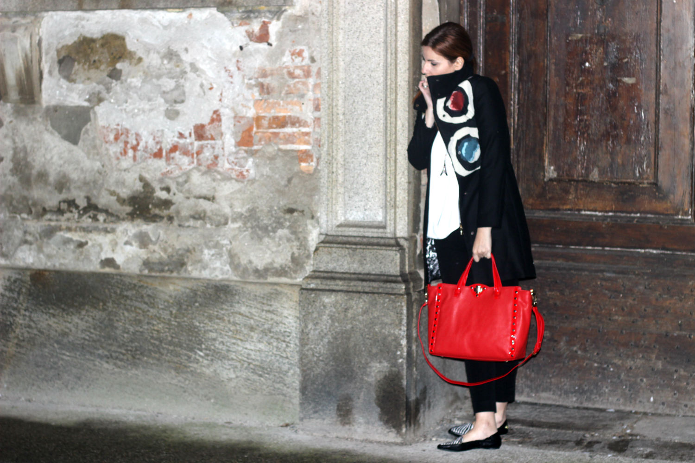 elisabetta bertolini outfit borsa rossa studio pollini - desigual - outfit autunno 2015