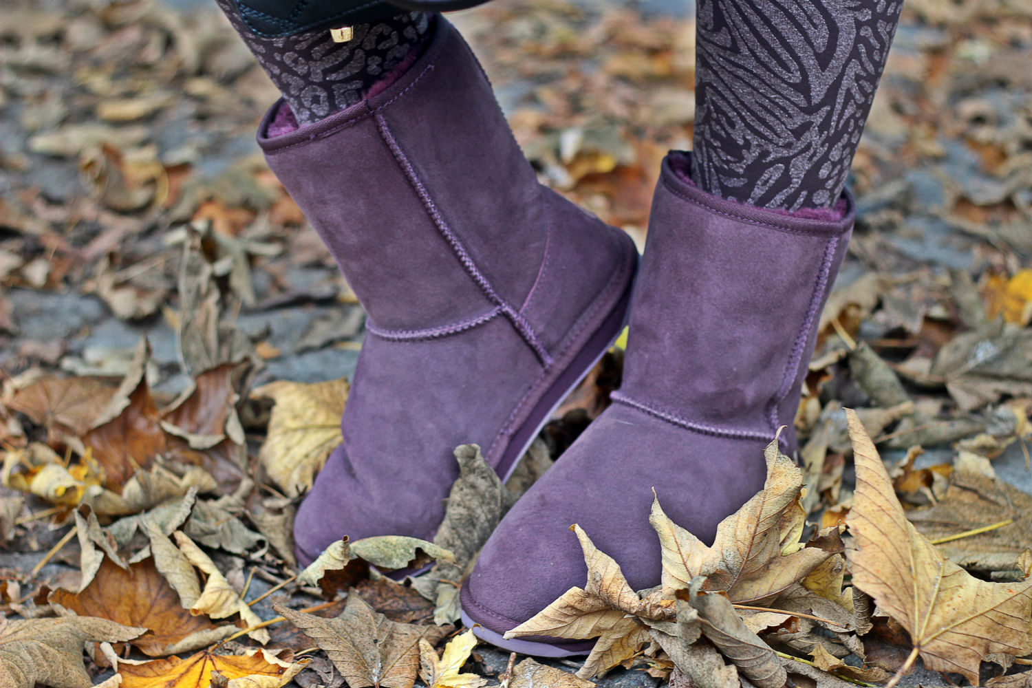 leggings emilio cavallini winter 2016 - Emu italia - purple boots - moda inverno 2016