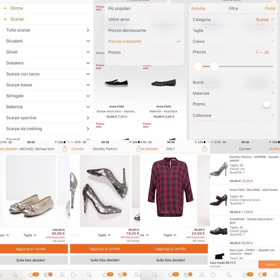 recensione app zalando per smarphone e tablet