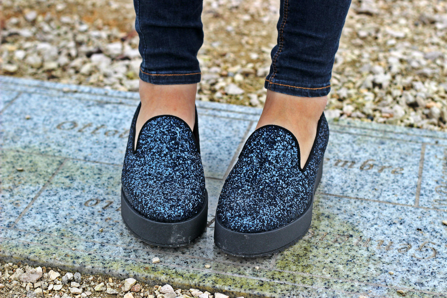 181 SLIP ON CON GLITTER E PLATFORM scarpe moda donna winter 2015