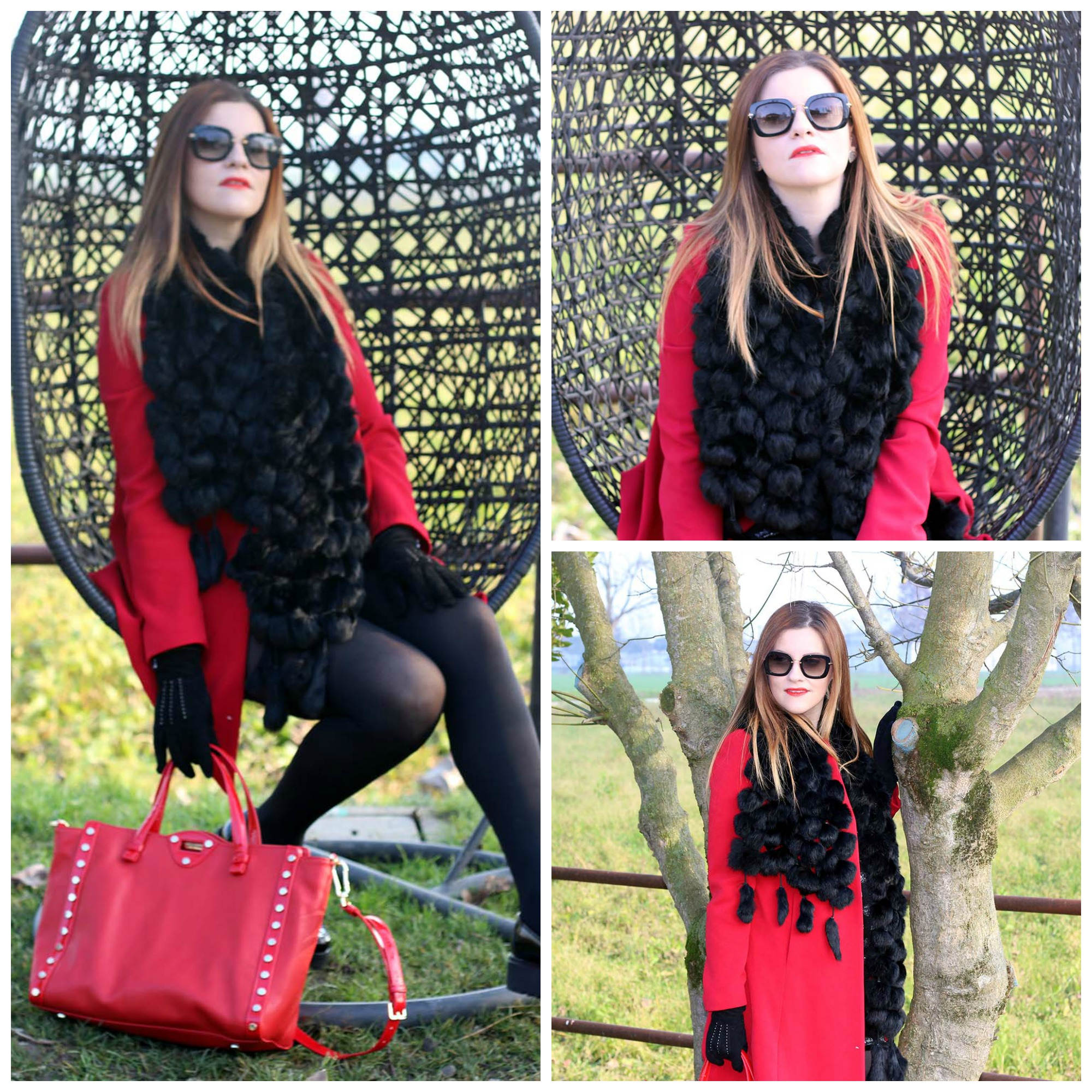 COLLAGE FASHION BLOGGER WINTER LOOK IL MIO OUTFIT DI NATALE