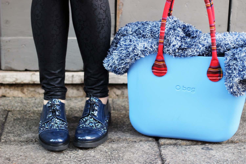 calzature vigevano blu glitter brogue stringate obag personalizzata fidenza village