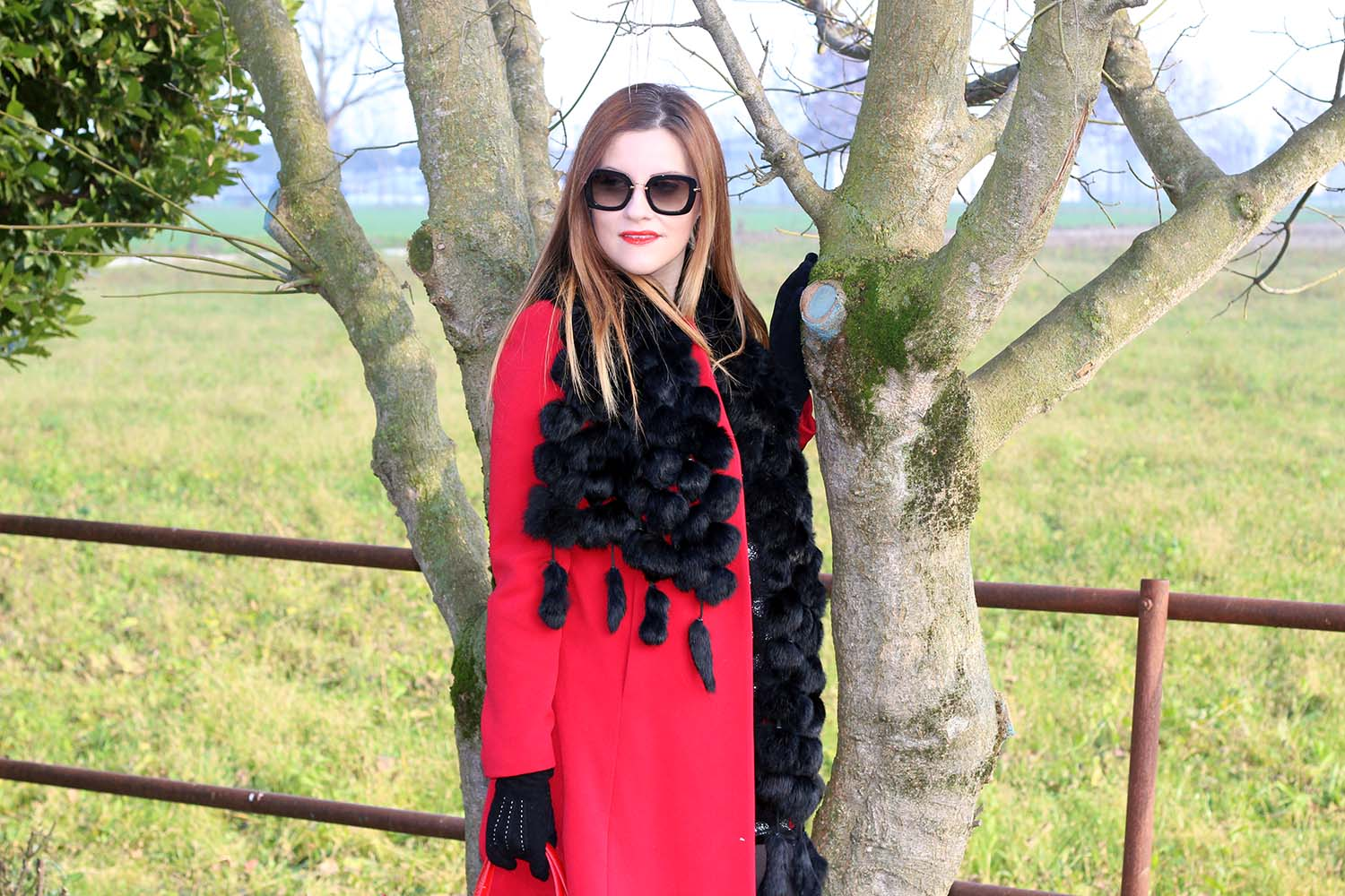 cappotto rosso fashion blogger italiane outfit winter look
