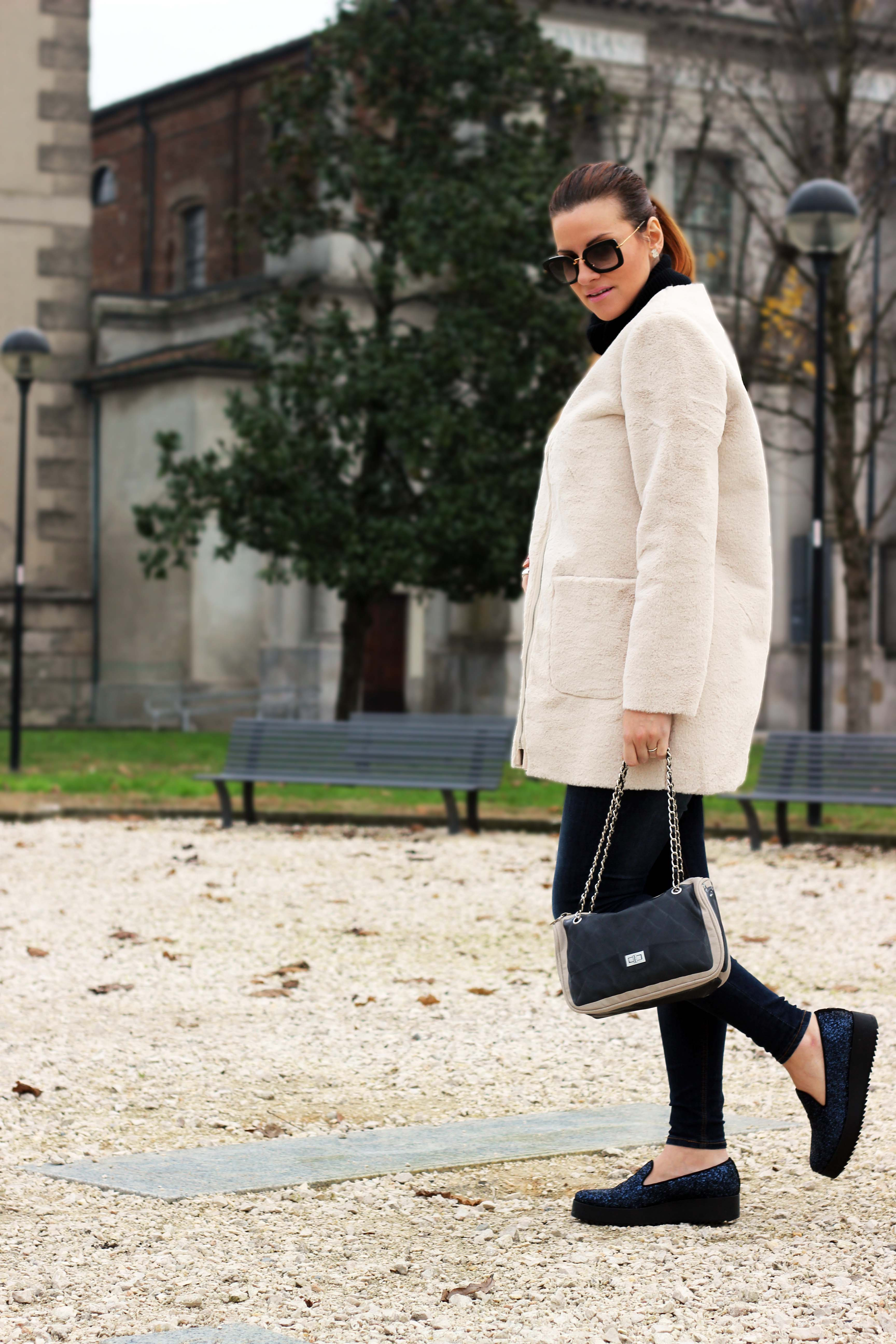 elisabetta bertolini pelliccia oversize moda premaman  fashion blogger italiane