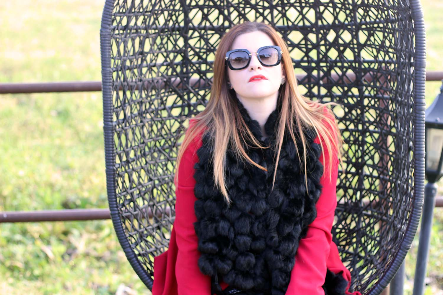 fashion blogger italiane occhiali da sole miu miu winter look