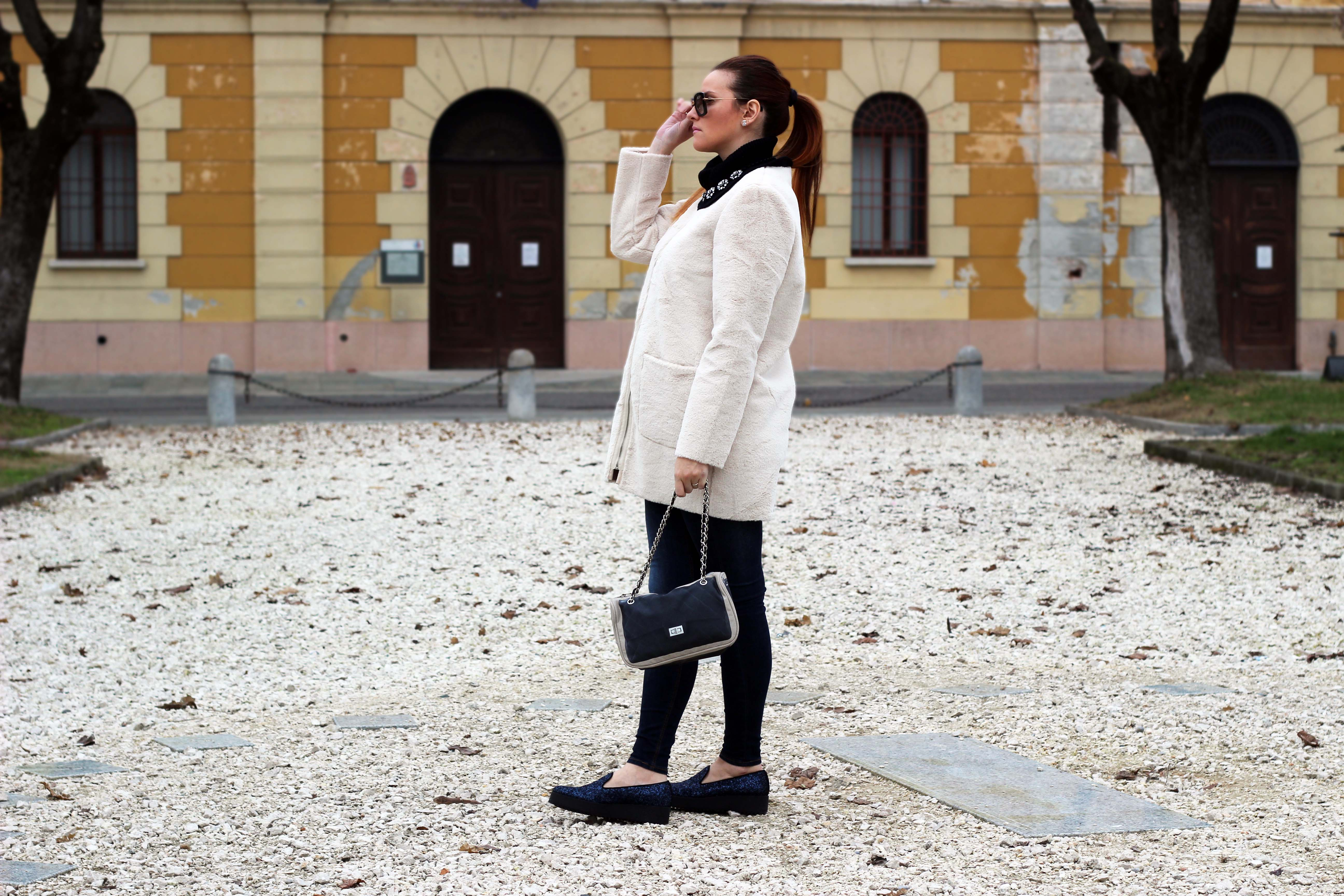 moda premaman pelliccia bianca primark borsa pomikaki tokio glittering shoes 181