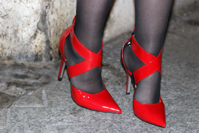 scarpe rosse capodanno 2015 red pumps calzature vigevano con intreccio e tacco