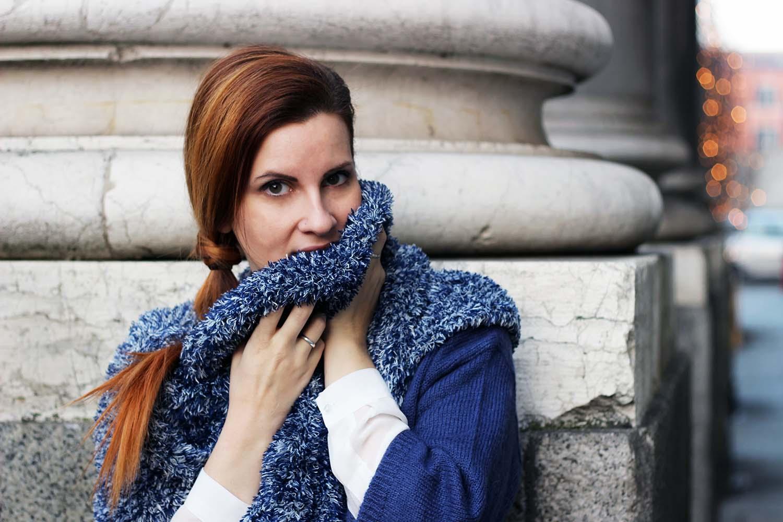 sciarpa mille usi elisabetta bertolini pantone blu avio winter look 2015