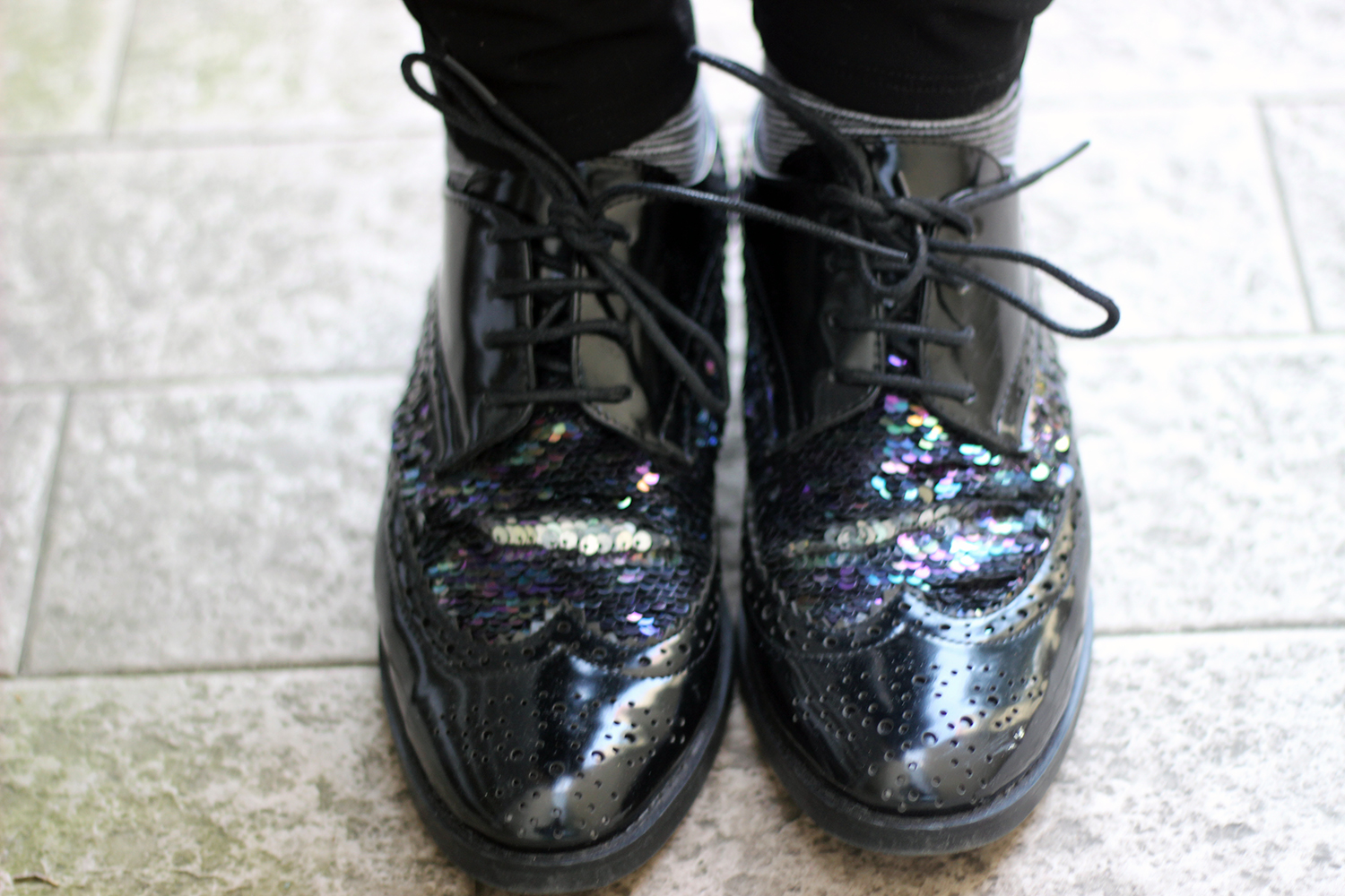 BROGUE DA DONNA CHINTI IN SEQUIN SHINE SHOES