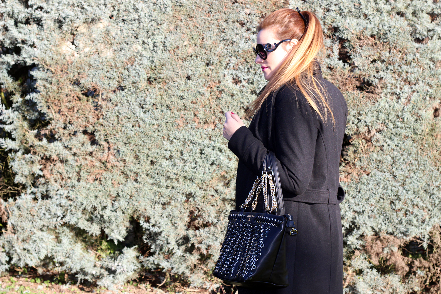 ELISABETTA BERTOLINI FASHION BLOGGER CAPPOTTO NERO