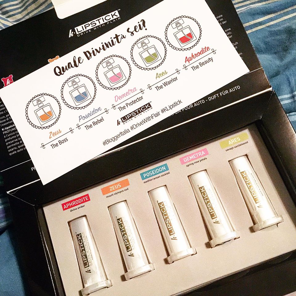KLipstick di blogger italia profumo auto gadget personalizzato