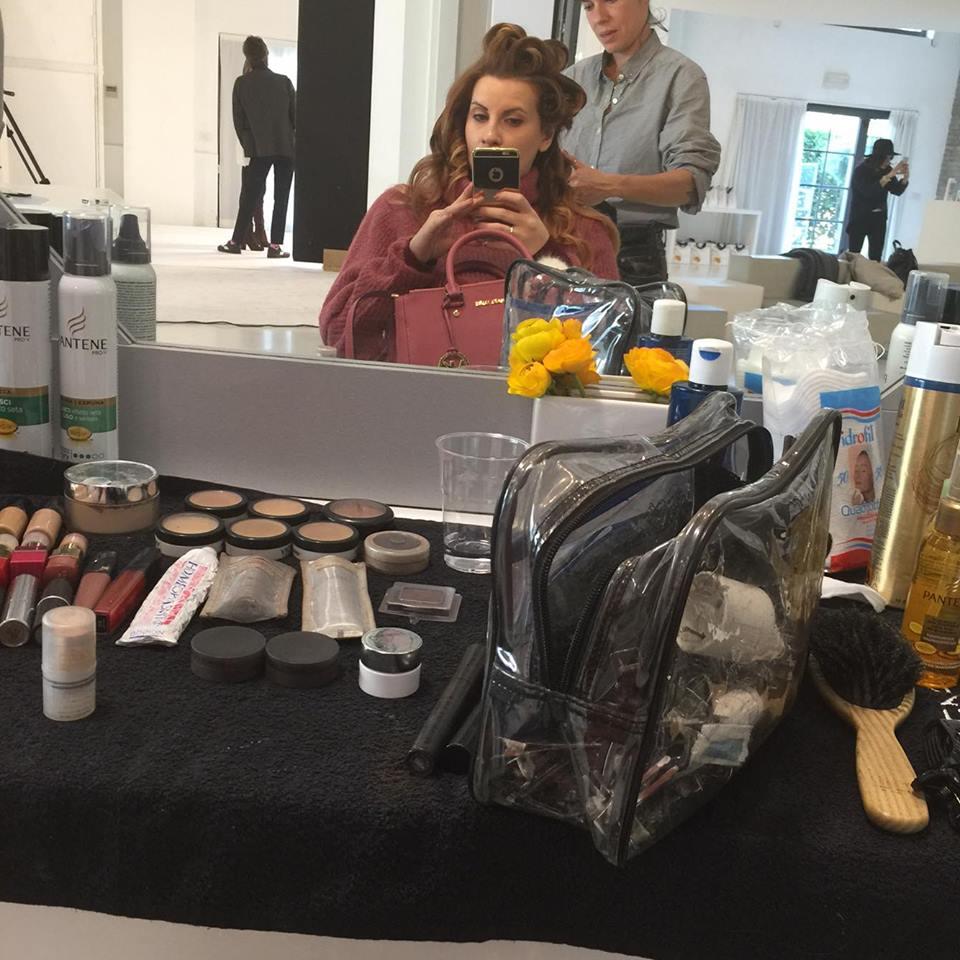 elisabetta bertolini fashion blogger incinta shooting fotografico capellipantene