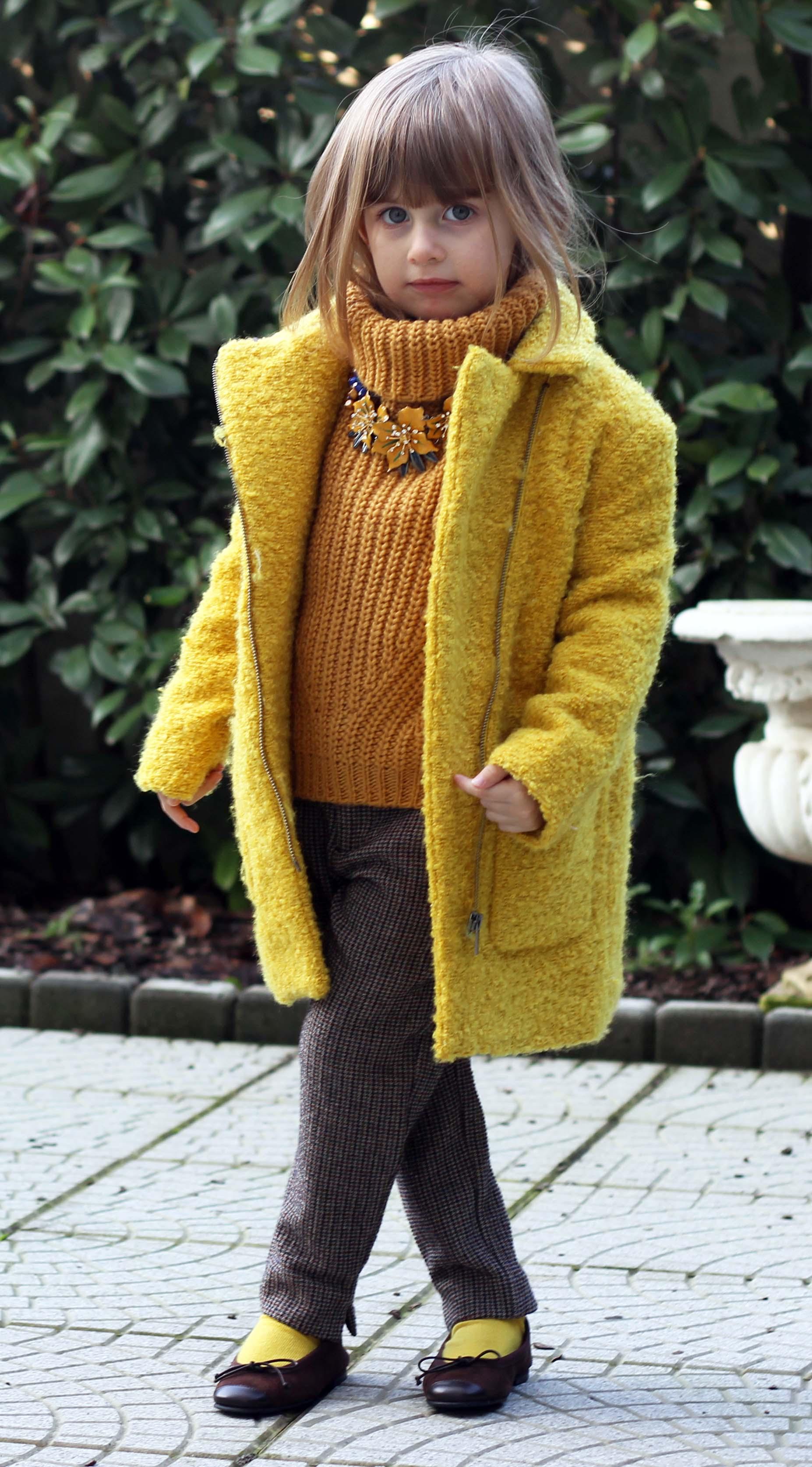 moda bimba gaia masseroni cappotto giallo kiabi bimba