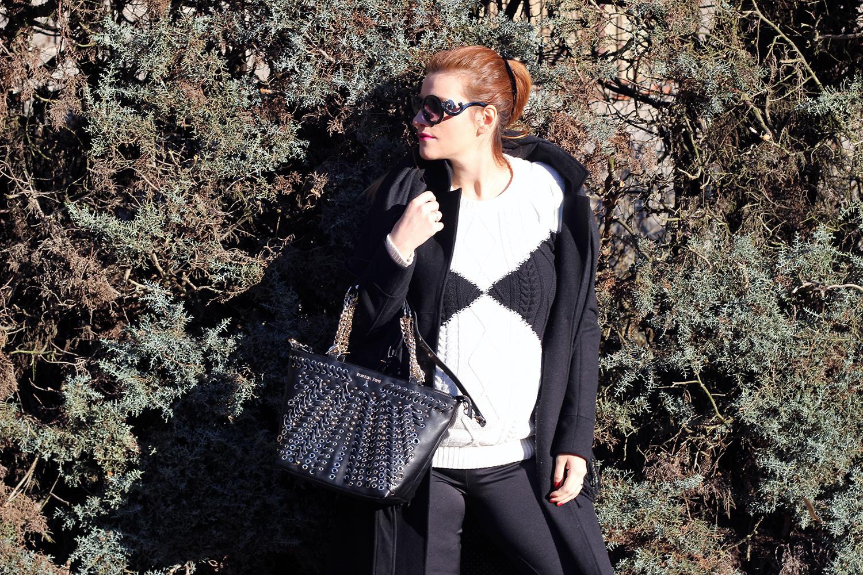 pullover bianco e nero ovs look saldi moda donna