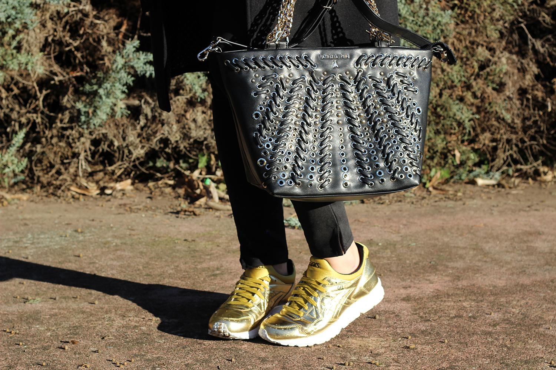 scarpe asics gel lyte v total gold e borsa patrizia pepe a tracolla