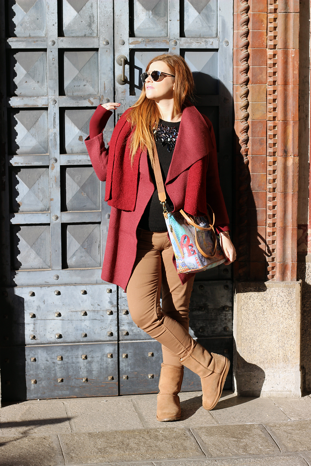 WINTER LOOK TRAVEL BAG DA VIAGGIO YNOT ELISABETTA BERTOLINI FASHION BLOGGER OUTFIT GRAVIDANZA