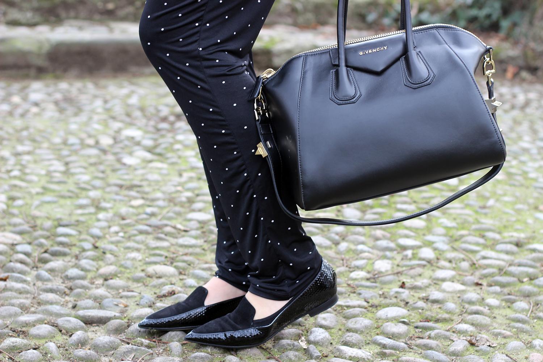 ballerine prosperine flats shoes borsa antigona givenchy nera pantaloni envie de frais premaman